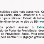 Texto do Extrato Previdenciário do Site do INSS